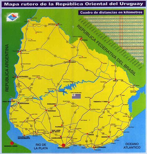 large scale road map  uruguay uruguay south america
