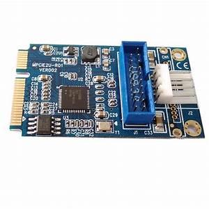 2020 Mini Pcie Pci E To 2 Ports Usb W   Molex 4 Pin Power