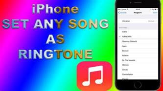 how to set a ringtone on iphone how to set any iphone song as ringtone no itunes no pc no