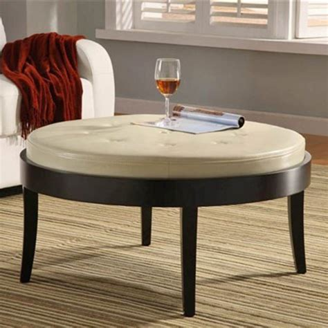 Furniture Coffee Table Luxury Leather Coffee Table Round