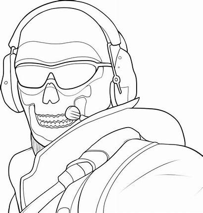 Duty Call Coloring Pages Drawing Cod Warfare
