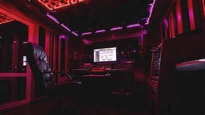 Studio Recording Sound Neon 4k Uhd Ultrawide