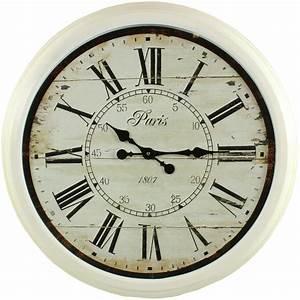 Horloge Murale Blanche : grande horloge ancienne murale paris 1807 70cm ~ Teatrodelosmanantiales.com Idées de Décoration