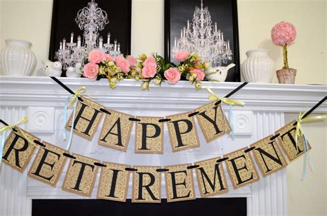 We adore retirement parties and we're happy to help you source out some fabulous retirement party ideas for decorations, party favors, gifts & more. Happy Retirement Banner Congratulations Sign Retirement