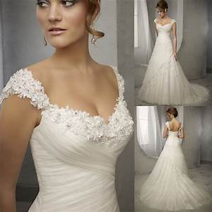 latest design vintage wedding dress lace cap sleeve beaded With latest wedding dresses