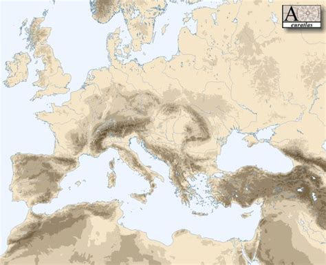 physical atlas of europe mountains of europe
