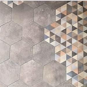 Carrelage Imitation Tomette Hexagonale : carrelage hexagonal tomette grise vieillie rift ~ Zukunftsfamilie.com Idées de Décoration