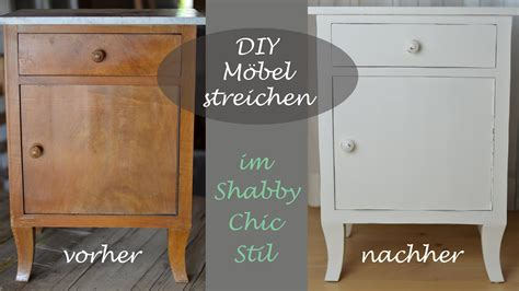 Diy  Shabby Chic Stil  Altes Schränkchen Mit Weißer