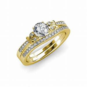 diamond butterfly engagement ring wedding band set 135 With butterfly wedding ring set