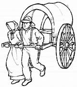 Pioneer Pioneers Coloring Pages Lds Etsy Children Drawing Items Info Similar Clipartmag sketch template