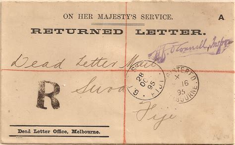 australia dead letter office melbourne returned