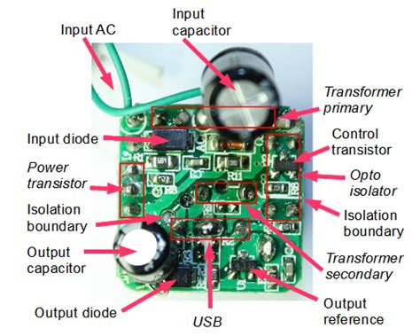 The Circuit Board Inside Tiny Usb Charger Knowledge