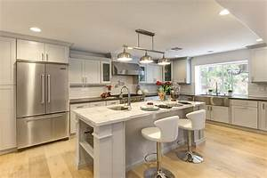 linear-chandelier-Kitchen-Transitional-with-farmhouse