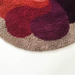 tapis shaggy rond 19 idees de decoration interieure With tapis rond shaggy