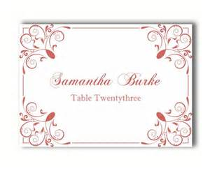 Wedding Place Card Templates Printable