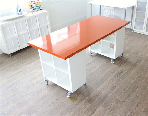 Fillable Craft Table L by Building A New Home The Formica Craft Table Made Everyday