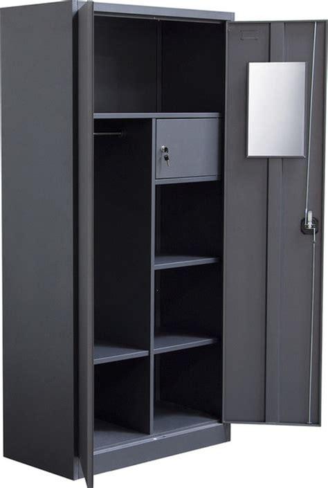 sofa 2 door metal closet with safe and mirror with