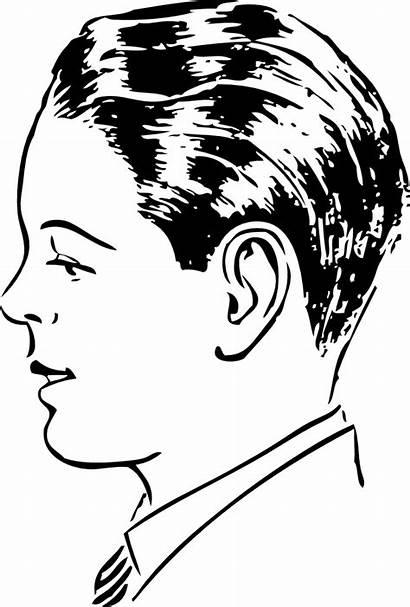 Side Clip Clipart Pompadour Face Head Drawing