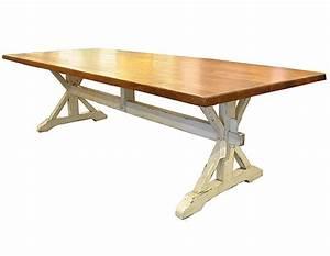 Oak Trestle Dining Table - J Tribble