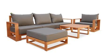 canap gris beautiful salon de jardin bois canape contemporary