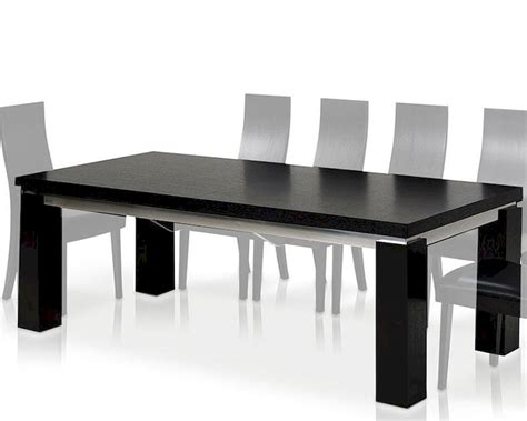 maxi modern black oak dining table dmaxi set