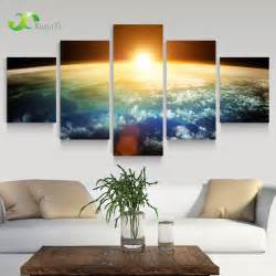 Home Interior Wall Hangings 5 Panel Modern Space Universe Picture Painting Cuadros Wall Decor Canvas Home Decor