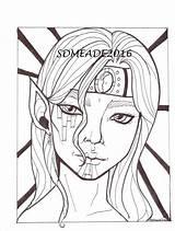 Coloring Elf Male Adult Elven Digital Facial Magus Stamp sketch template