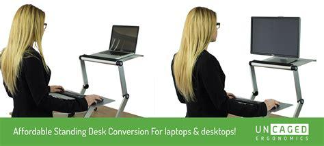 cheap standing desk converter amazon com workez standing desk conversion kit with 2