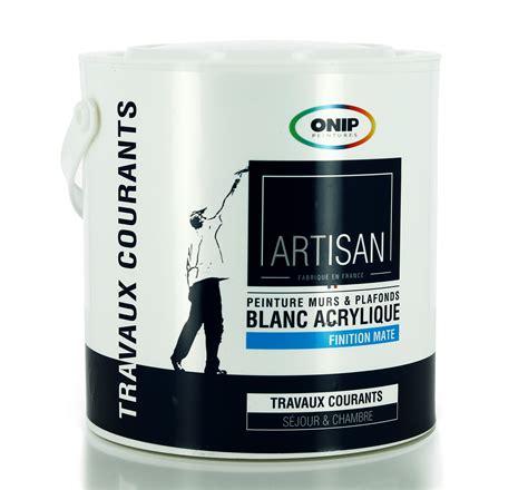 Peinture Acrylique Blanche Bicouche Mat, Existe En