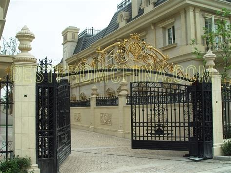 villa fence designs gilded large wrought iron gate and fence marble gate post gates pinterest gate post
