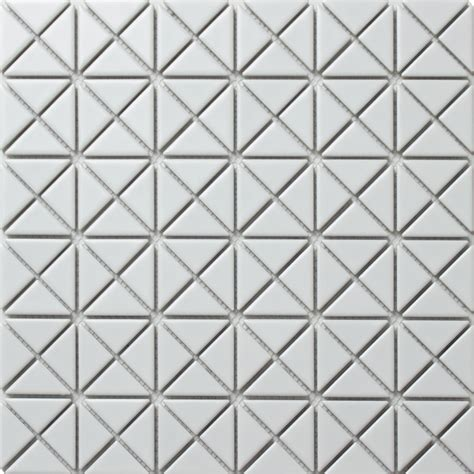 1'' Cheap Matte Porcelain Triangle White Tile Mosaic for