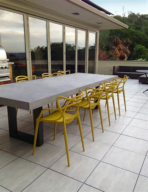 contemporary zen outdoor concrete table contemporary