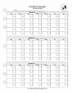 conflict calendar template With conflict calendar template