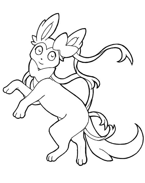 Pokemon Sylveon Coloring Pages Otvod