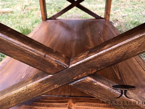 custom built table  antique walnut gel stain general