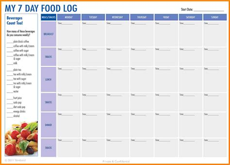 food journal template  manual journal