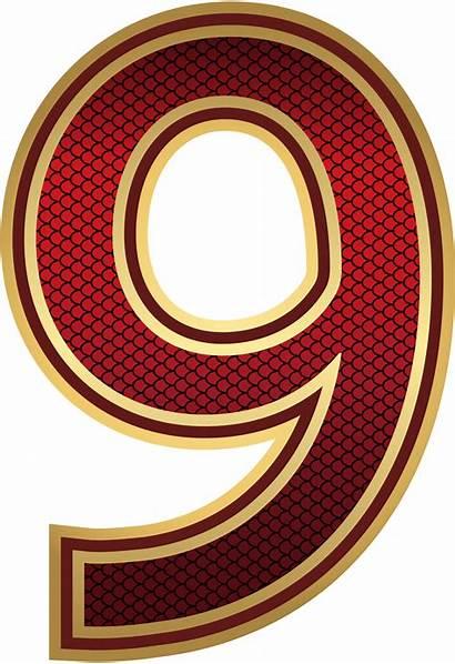 Number Nine Clipart Numbers Decorative Transparent Yopriceville