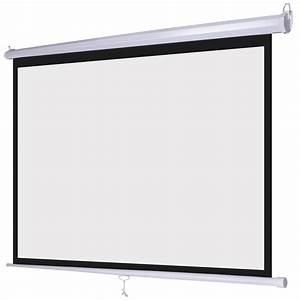 Pro 120 U0026quot  1 1 Ratio Manual Pull Down Retractable Projector