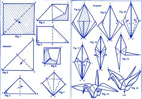 origami kranich anleitung schwan kranich
