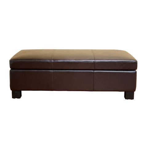 brown leather storage ottoman interiors gallo bicast leather storage ottoman