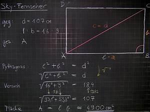 Berechnung Fernseher Abstand : mathematik geometrie tafelbilder fernseher monitor diagonale fl che berechnung 8500 ~ Frokenaadalensverden.com Haus und Dekorationen