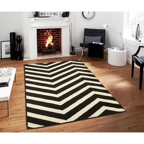 Black Kitchen Area Rugs by Large Chevron Black White Zig Zag Area Rugs Kitchen