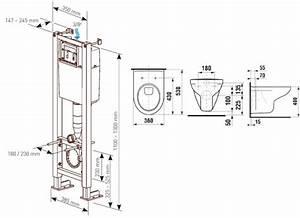 Dimension Wc Suspendu : b ti chasse anco universel avec cuvette traditionnelle ~ Premium-room.com Idées de Décoration