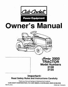 Cub Cadet Lawn Mower 2130 User Guide