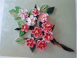 Mothers day gift Cherry blossom home decor Quilled flowers ...