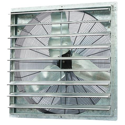 exhaust fan with shutter iliving 6100 cfm power 36 in single speed shutter exhaust
