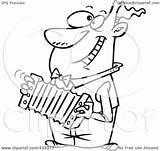 Accordion Cartoon Coloring Playing Line Clipart Illustration Happy Accordian Royalty Toonaday Rf Pages Printable Leishman Ron Powered Results sketch template