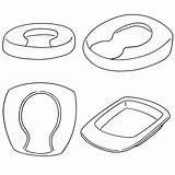 Bedpan Clip Pan Bed Clipart Vector Illustrations Clipground Chamber Pot sketch template
