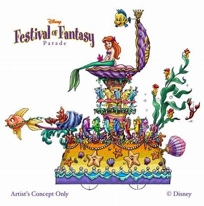 Disney Parade Floats Fantasy Festival Walt Park