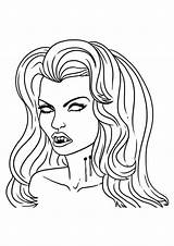 Vampire Fille Coloriage Coloring Vampires Dessin Drawing Draw Imprimer Dessiner Drawings Mina Diaries Easy Pages Peur Qui Dessins Colorier Halloween sketch template